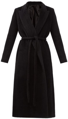 Totême Double-breasted Belted Alpaca-blend Coat - Black