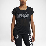 "Nike Breathe ""Oregon Project"" Women's Short Sleeve Running Top"