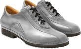 Pakerson Gray Italian Hand Made Leather Lace-up Shoes