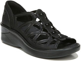 BZees Gladiator-Style Wedge Sandals - Sasha