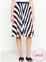 Ted Baker Alliee Rowing Stripe Print Midi Skirt