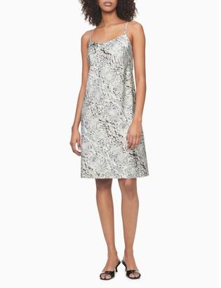 Calvin Klein Printed Sleeveless Slip Dress