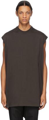 Rick Owens Brown Tarp Sleeveless T-Shirt