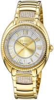 Ferré Milano Women's 34mm Stainless Steel 3-Hand Roman Glitz Watch with Bracelet, Golden