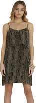 BCBGeneration Tribal Print Pleated Flounce Dress - Tan