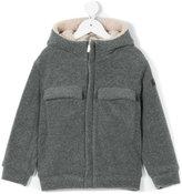 Il Gufo textured hooded jacket