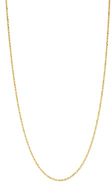 Bloomingdale's Fine Glitter Link Chain Necklace in 14K Yellow Gold - 100% Exclusive