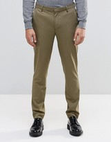 Asos Skinny Trousers In Khaki
