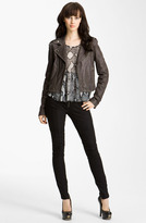 Balmain Pierre Quilted Leather Moto Jacket
