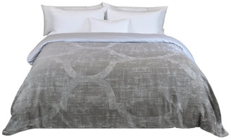 Natural Comfort Yue Home Textile Yarn-Dyed 100% Cotton Duvet Cover, Taupe, King