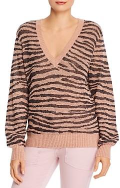 Joie Inira Animal Print V-Neck Sweater