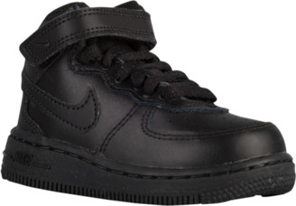 Nike Force 1 Mid Basketball Shoes - Black