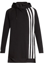 Y-3 Striped Long-line Hooded Top