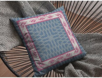 """Bungalow Rose Hiran Peacock Nest Throw Pillow Size: 18"""" x 18"""", Cover Material: Suede"""