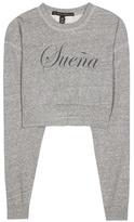 True Religion x Joan Smalls Printed Cropped Sweatshirt