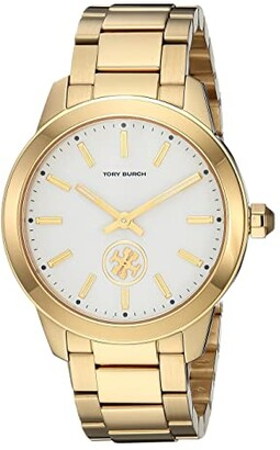 Tory Burch Collins Bracelet Watch (Gold - TBW1200) Watches