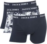 Men's Jack & Jones 3 Pack Jaceasy Print and Plain Trunks