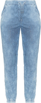 Via Appia Plus Size Drawstring waist distressed jeans