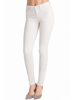J Brand 811 Mid-Rise Twill Jean In Arctic White
