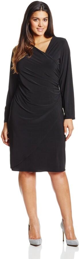 MSK Womens Cowl Neck Fringe Three Quarter Length Sleeve Dress