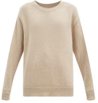 LES TIEN Round-neck Cashmere Sweater - Beige