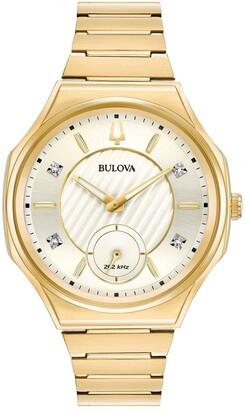 Bulova Women's CURV Diamond Analog Quartz Bracelet Watch, 40.5mm - 0.02 ctw