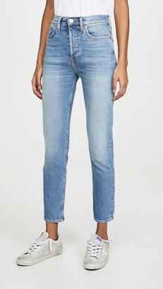 RE/DONE High Rise Ankle Crops