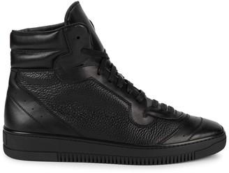 John Galliano High-Top Leather Sneakers