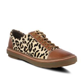 Spring Step L'Artiste Leather Lace-Up Shoes - Libbi Leopard