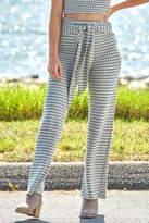 Abbeline Herringbone Knit Hi Waist Pant Grey Multi L