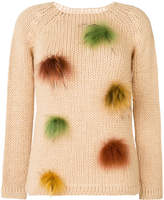 Blugirl fur trim jumper