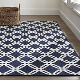 Crate & Barrel Arlo Blue Indoor/Outdoor Rug