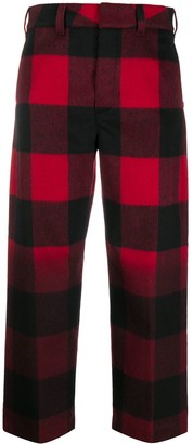 DEPARTMENT 5 Check-Pattern Cropped Trousers