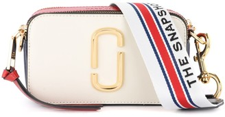 Marc Jacobs Shoulder Bag The Snapshot Small Camera Bag Ivory, Red And Blue