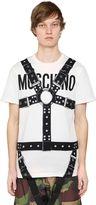 Moschino Bondage & Logo Cotton Jersey T-Shirt