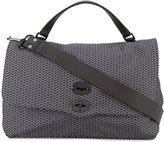 Zanellato zig-zag patterned satchel - men - Leather/Polyamide - One Size