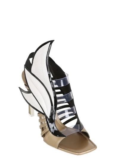Gianmarco Lorenzi 100mm Metallic Leather Wing Sandals