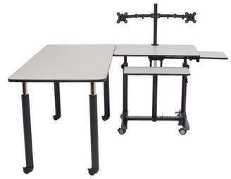 """Stand Teachers 63"""" x 63"""" Novelty Activity Table National Public Seating"""