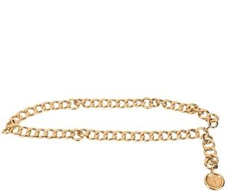 Charm & Chain CC logos medallion charm chain belt