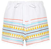 Lemlem Tabtab Striped Cotton-blend Gauze Shorts - Sky blue