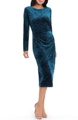 Maggy London Faux Wrap Midi Dress
