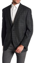 Peter Millar Emerald Plaid Notch Collar Two Button Classic Fit Wool Sports Coat