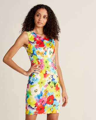 Love Moschino Floral Print Sleeveless Sheath Dress
