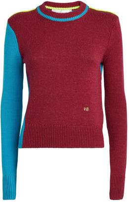 Victoria Beckham Knit Colour-Block Sweater