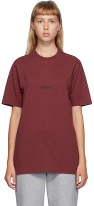Vetements Red Written logo T-Shirt