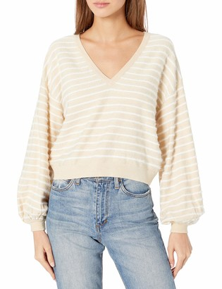 Finders Keepers findersKEEPERS Women's Yayo Balloon Sleeve Striped Fashion Sweater