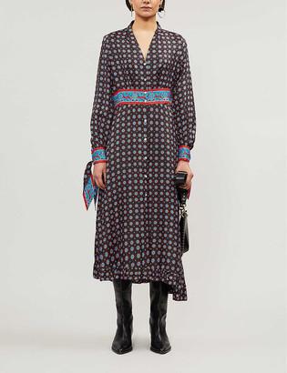 Sandro Catlyn silk-satin midi dress