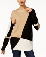 INC International Concepts Petite Colorblocked Sweater, Created for Macy's