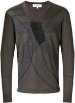Salvatore Ferragamo patterned V-neck jumper