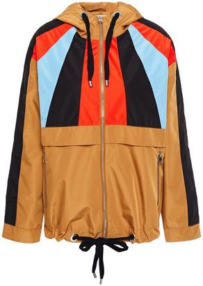 Maje Banela Color-block Shell Hooded Jacket